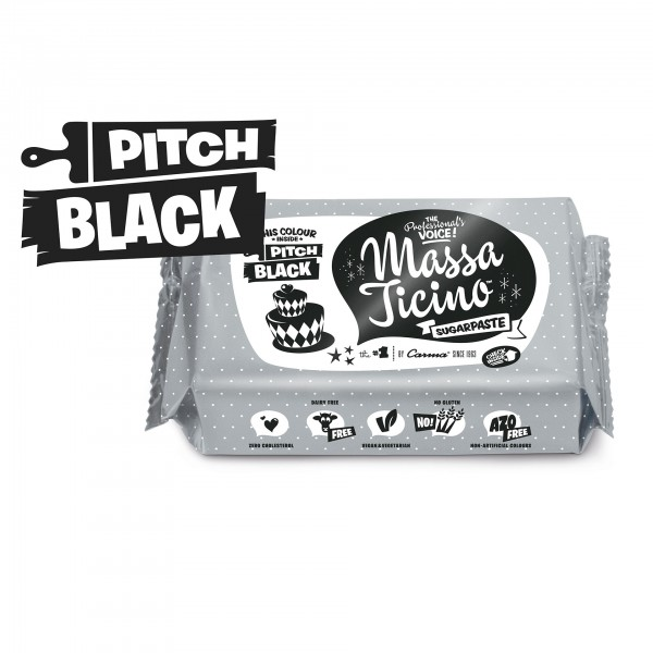 Pitch Black Fondant Massa Ticino Tropic - 250g