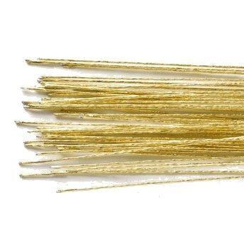 24 G - Goldener Blumendraht 50 Stück