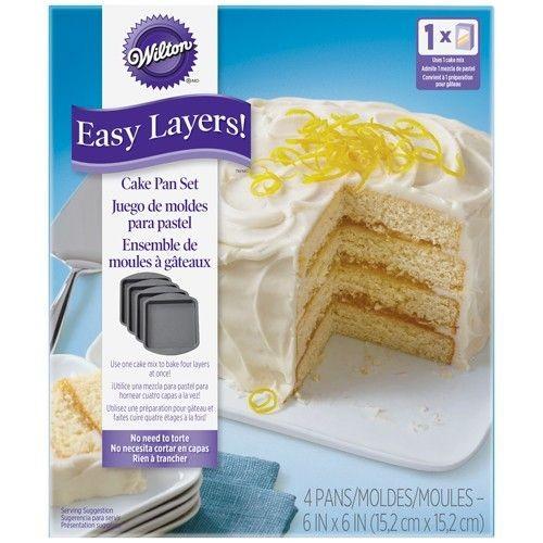 Wilton Square Cake Pan Easy Layers -15cm- Set/4_1