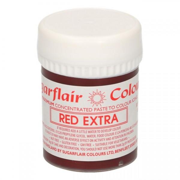 Rote Pastenfarbe Max - Red Extra von Sugarflair - 42g | Pastenfarben ...
