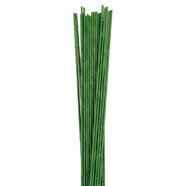 26 G - Grüner Blumendraht 100 Stück
