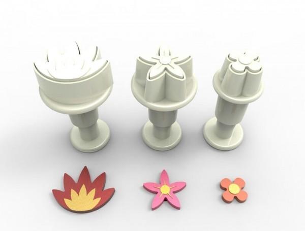 Stempelausstecher mini Blüten