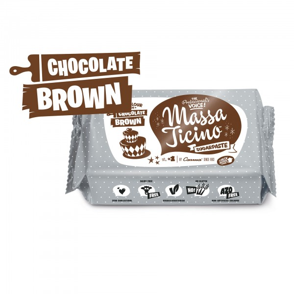 Chocolate Brown Fondant Massa Ticino Tropic - 250g