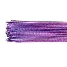 24 G - Metallic violetter Blumendraht 50 Stück