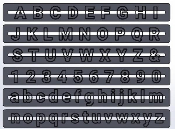 dekofee Buchstaben- und Zahlen Ausstecher Roboto