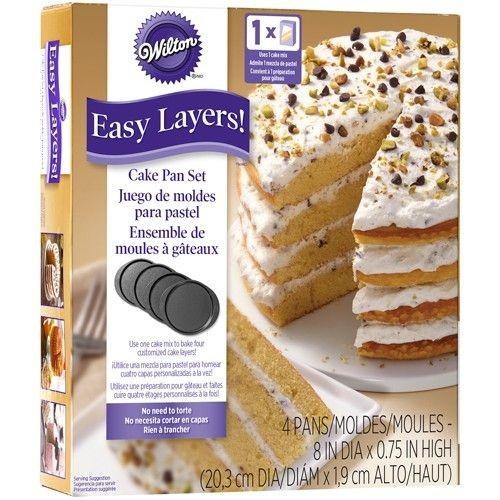 Wilton Cake Pan Easy Layers -20cm- Set/4_1