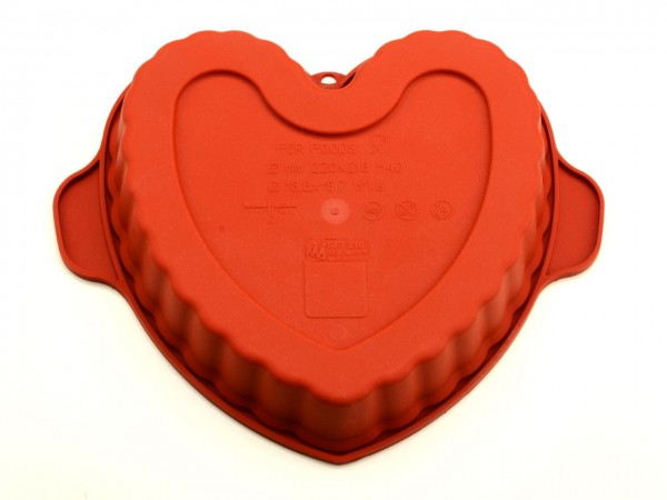 Silikomart Silikonform mittelgroßes Herz GREENLINE