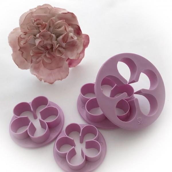 5 Blatt Blüten Ausstecher Zuckerblume